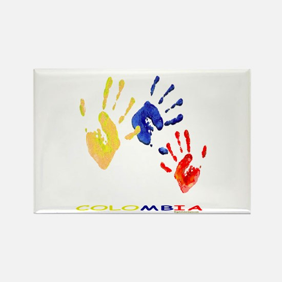 Colombian hands Rectangle Magnet