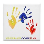 Colombian hands Tile Coaster