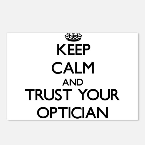 Keep Calm and Trust Your Optician Postcards (Packa