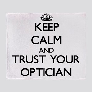 Keep Calm and Trust Your Optician Throw Blanket
