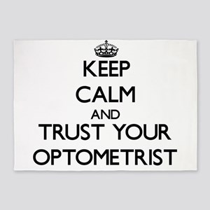 Keep Calm and Trust Your Optometrist 5'x7'Area Rug