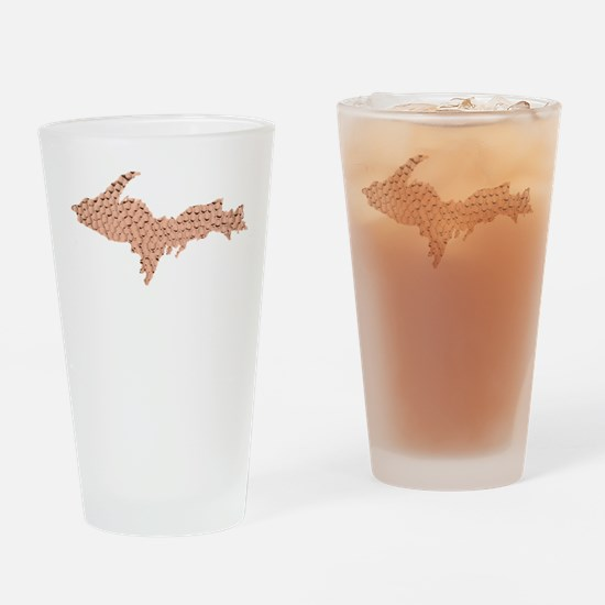 Hammered Copper Drinking Glass