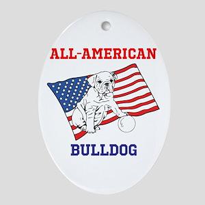 ALL-AMERICAN BULLDOG Ornament (Oval)