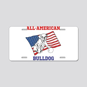 ALL-AMERICAN BULLDOG Aluminum License Plate
