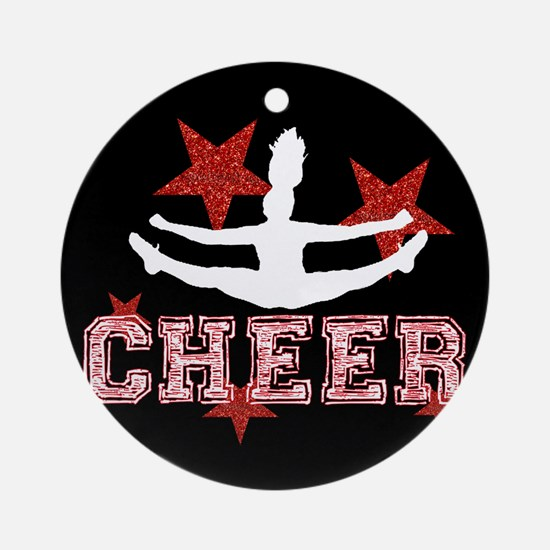 Cheerleader black and red Ornament (Round)