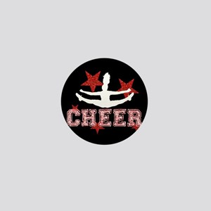 Cheerleader black and red Mini Button