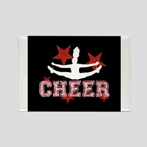 Cheerleader black and red Magnets