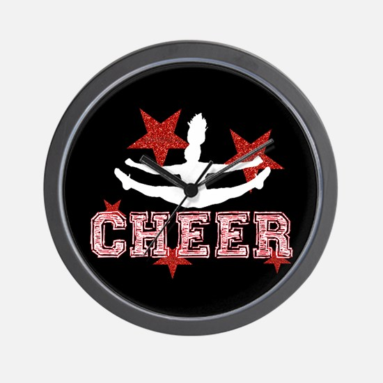 Cheerleader black and red Wall Clock