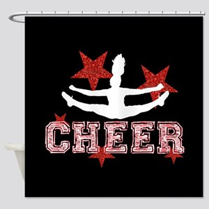 Cheerleader black and red Shower Curtain