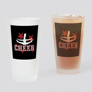 Cheerleader black and red Drinking Glass