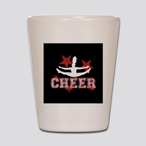 Cheerleader black and red Shot Glass