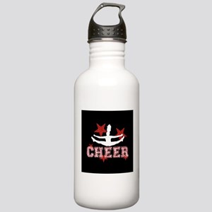 Cheerleader black and red Water Bottle