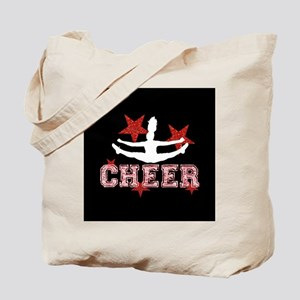 Cheerleader black and red Tote Bag