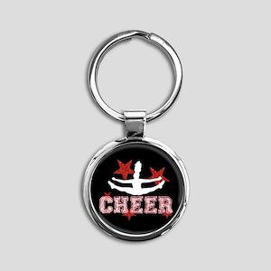 Cheerleader black and red Keychains