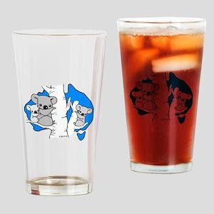 Koala Bears (Blue) Drinking Glass