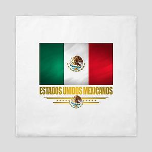 Flag of Mexico Queen Duvet