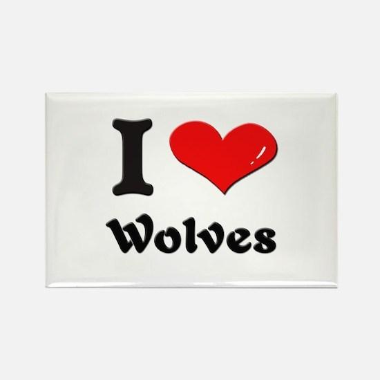 I love wolves Rectangle Magnet