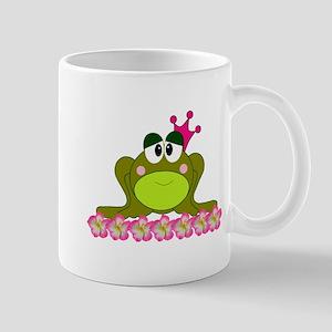 Sweet Pink and Green Frog Princess Mugs