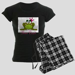 Personalizable Pink and Green Frog Pajamas