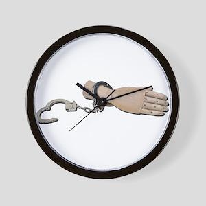 ShackledHandcuffs052711 Wall Clock