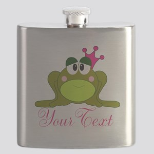 Personalizable Pink and Green Frog Flask