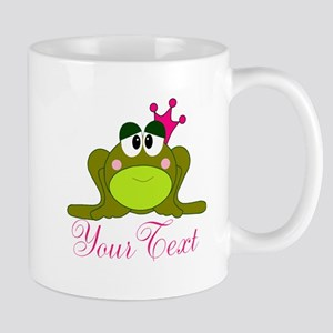 Personalizable Pink and Green Frog Mugs