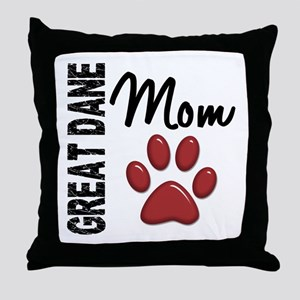 Great Dane Mom 2 Throw Pillow