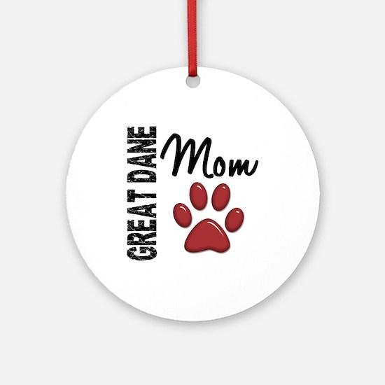 Great Dane Mom 2 Ornament (Round)