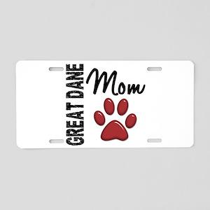 Great Dane Mom 2 Aluminum License Plate
