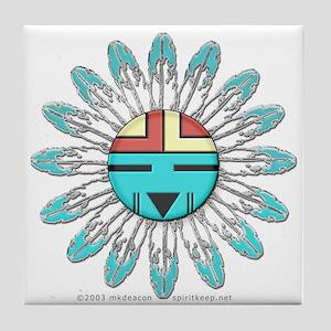 Hopi Sunface Tile Coaster