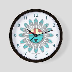 Hopi Sunface Wall Clock