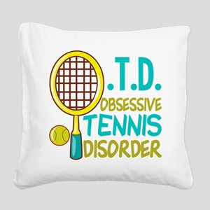 Funny Tennis Square Canvas Pillow
