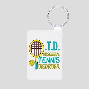 Funny Tennis Aluminum Photo Keychain