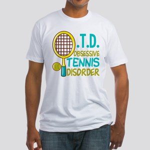 Funny Tennis Fitted T-Shirt