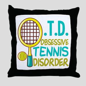 Funny Tennis Throw Pillow