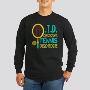 Funny Tennis Long Sleeve Dark T-Shirt
