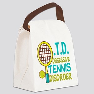 Funny Tennis Canvas Lunch Bag
