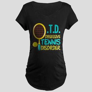 Funny Tennis Maternity Dark T-Shirt