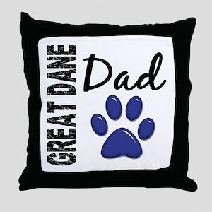 Great Dane Dad 2 Throw Pillow