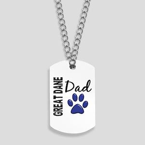 Great Dane Dad 2 Dog Tags