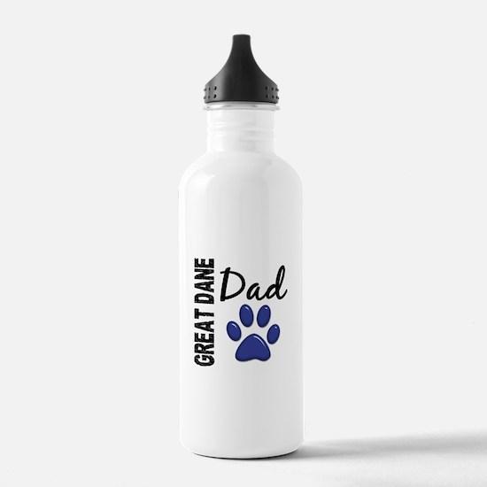 Great Dane Dad 2 Water Bottle