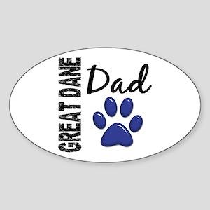 Great Dane Dad 2 Sticker (Oval)