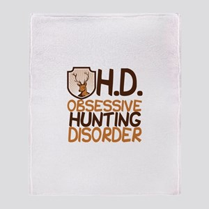 Funny Hunting Throw Blanket