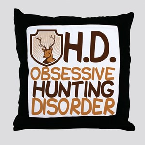 Funny Hunting Throw Pillow