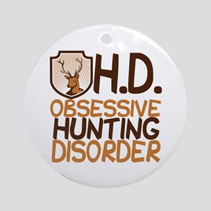 Funny Hunting Ornament (Round)