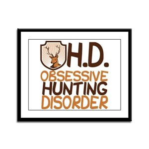 Funny Hunting Framed Panel Print
