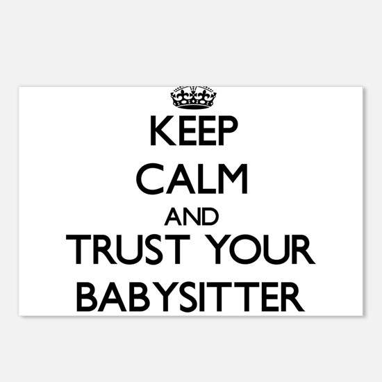 Keep Calm and Trust Your Babysitter Postcards (Pac
