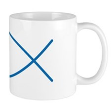 Blue Christian Faith Fish Mug