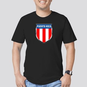 Puerto Rico Shield Men's Fitted T-Shirt (dark)