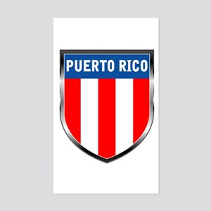 Puerto Rico Shield Sticker (Rectangle)